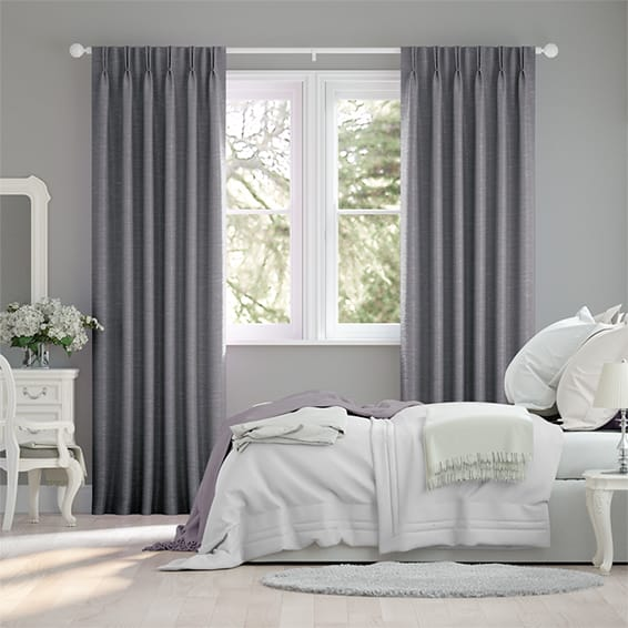 Ahisma Luxe Faux Silk Lilac Curtains