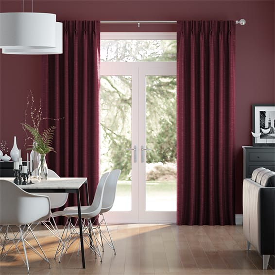 Ahisma Luxe Faux Silk Merlot Curtains
