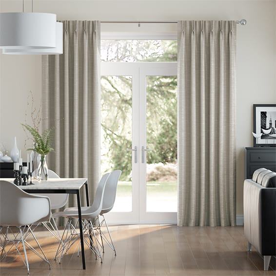 Ahisma Luxe Faux Silk Oyster Curtains