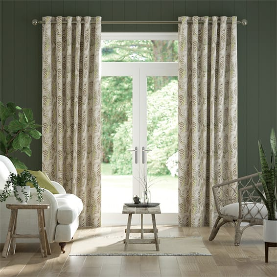 Arboretum Linen Neutral Curtains