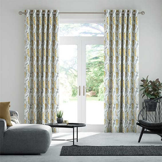 Arboretum Linen Sunshine Curtains