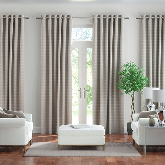 Ashbourne Pale Grey Curtains