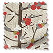 Berry Blossom Linen Cherry Curtains slat image