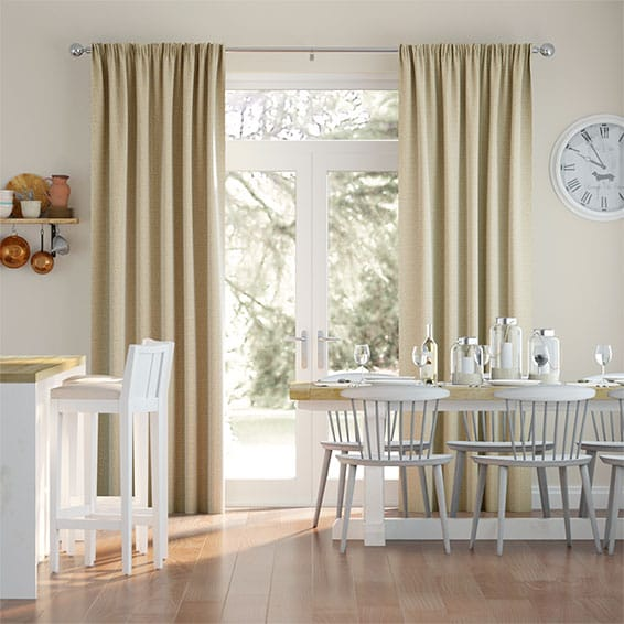 Bingham Basket Beige Curtains