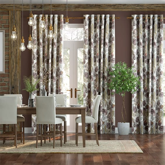 Blakely Faux Silk Merlot Curtains