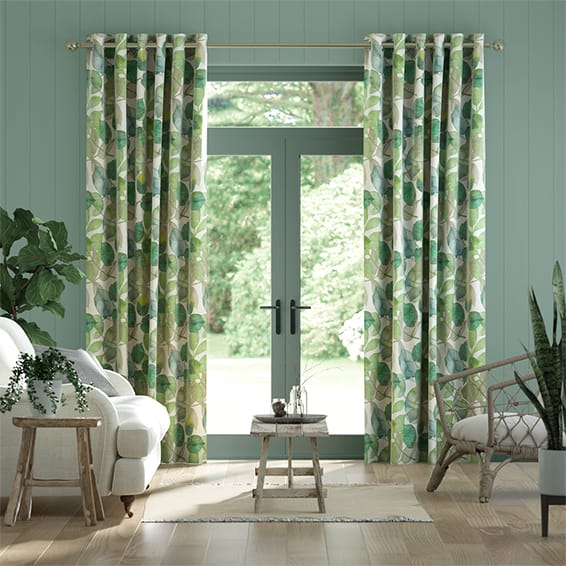 Blakely Linen Vintage Lily Pad Curtains