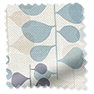 Blooming Meadow Linen Blue Curtains slat image