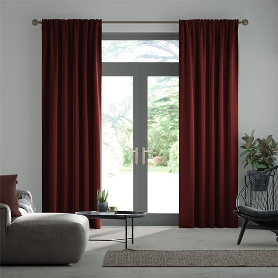 Canterbury Velvet Merlot Curtains