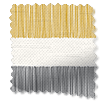 Cardigan Stripe Flax Grey Curtains slat image