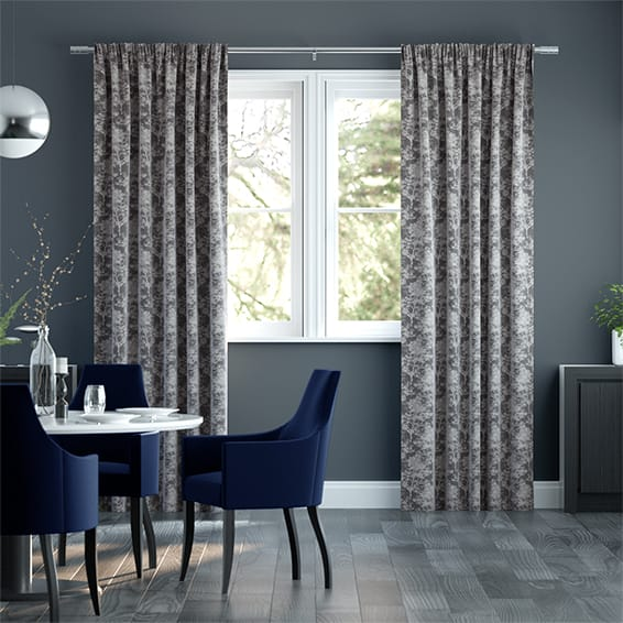 Castlebeck Silver Curtains