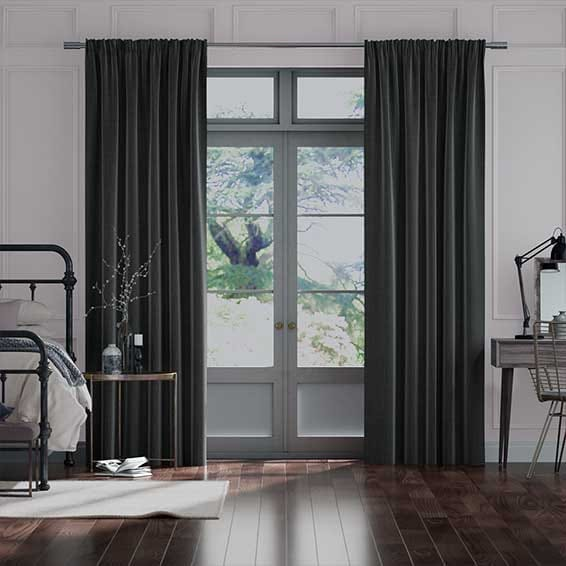 Cavendish Charcoal Curtains