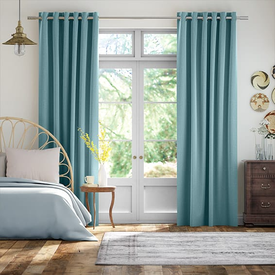 Cavendish Lagoon Blue Curtains