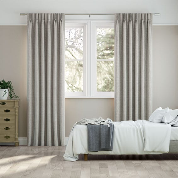 Chenille Stone Grey Curtains