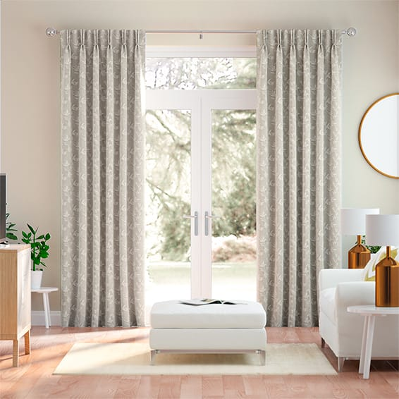 Chesapeake Embroidered Latte Curtains