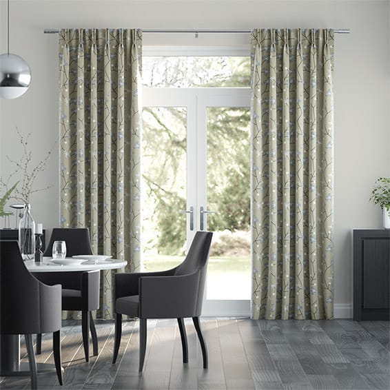 Country Blossom Linen Sylvan Curtains