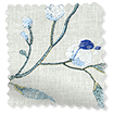 Country Flower Embroidered Cornflower Curtains slat image