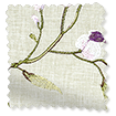 Country Flower Embroidered Plum Curtains slat image