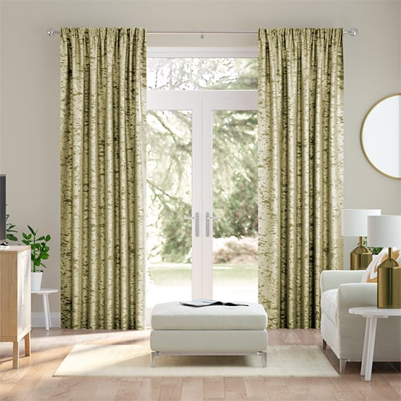 Crushed Velvet Antique Gold Curtains