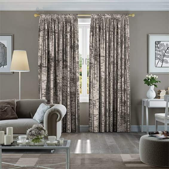 Crushed Velvet Mink Curtains