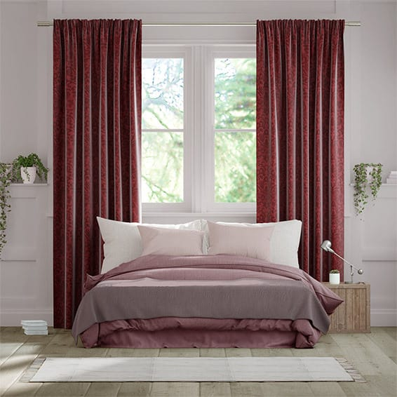 Damasco Scarlet Curtains