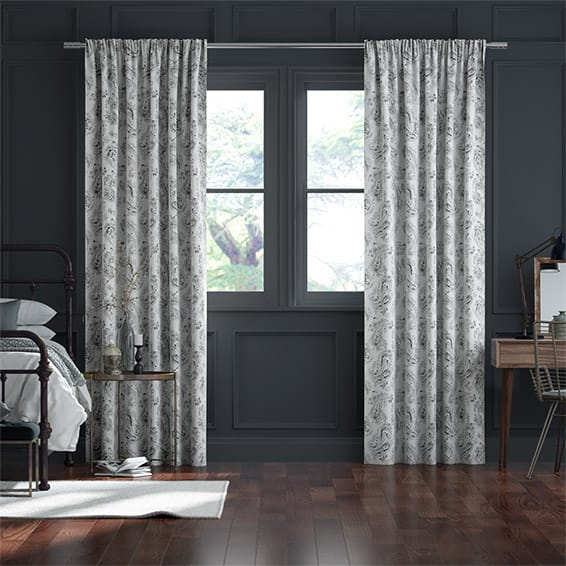 Davinci Black Ink Curtains