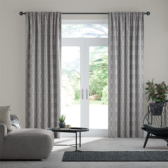 Delphin Pewter Curtains