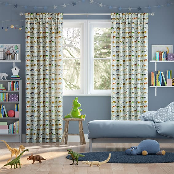 Dinosaurs Cream Curtains