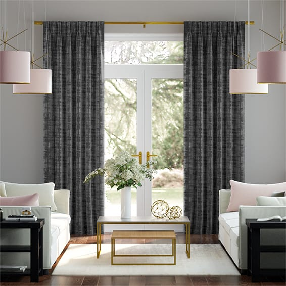 Dorchester Velvet Charcoal Curtains