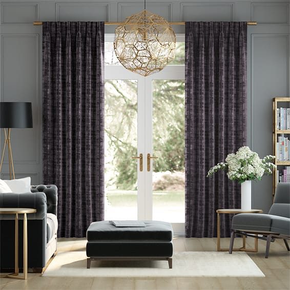 Dorchester Velvet Ultra Violet Curtains
