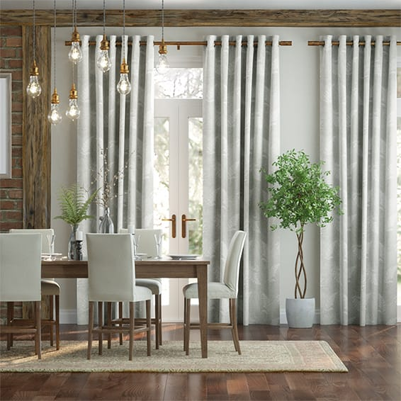 Eaton Embroidered Neutral Curtains