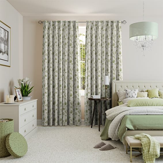 Elstow Heritage Green Curtains
