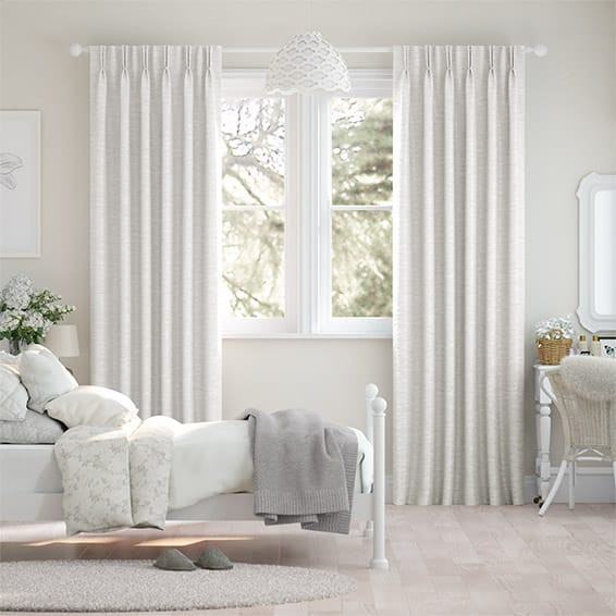Emperor Faux Silk Snow Curtains
