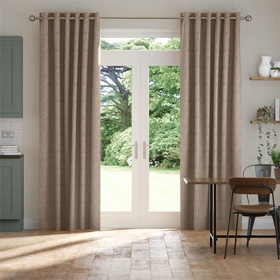 Eternity Linen Biscuit Curtains