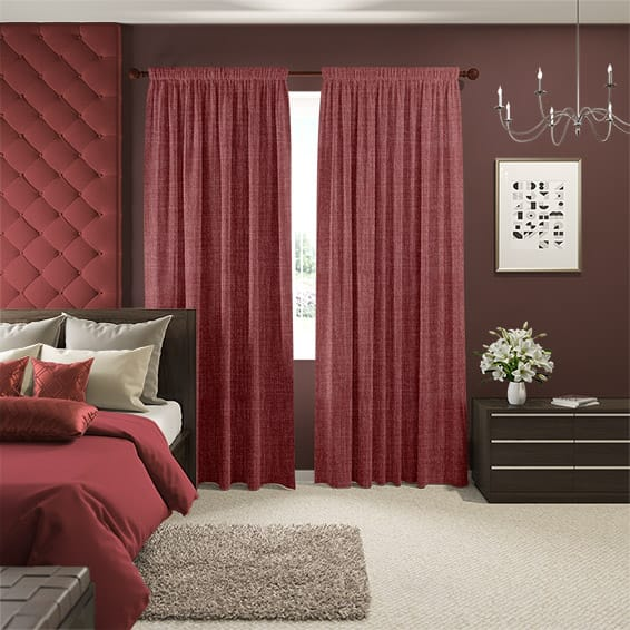 Eternity Linen Coral Red Curtains