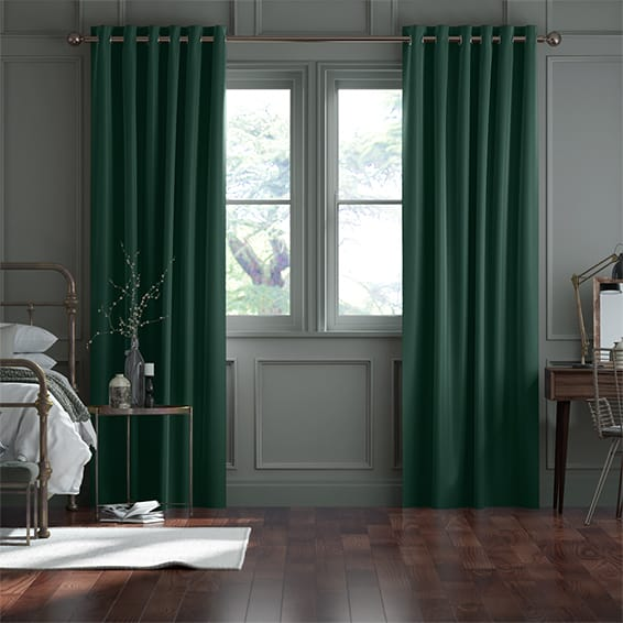 Fine Velvet Forest Green Curtains