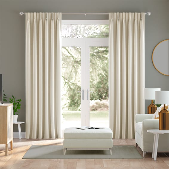 Fine Velvet Ivory Curtains