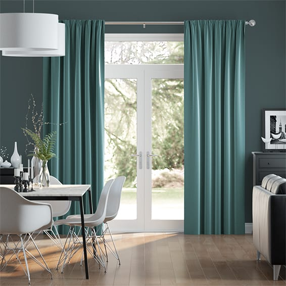Fine Velvet Lagoon Curtains
