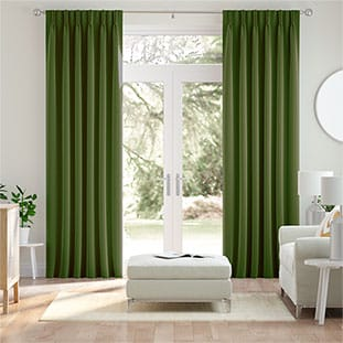 Green Curtains 2go™ | Light, Mid & Dark Green Tones
