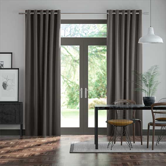 Fine Velvet Mouse Grey Curtains