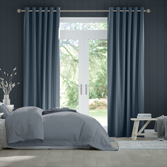 Fine Velvet Powder Blue Curtains