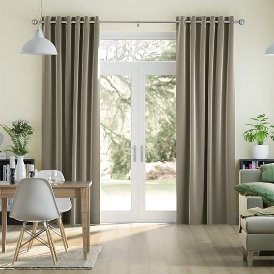 Fine Velvet Stone Grey Curtains