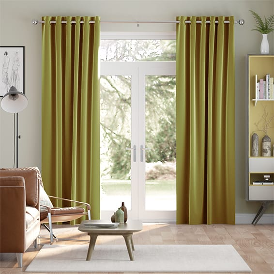 Fine Velvet Wasabi Green Curtains