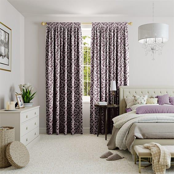 Fiorenza Plum Curtains