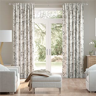 Image result for cream color floral embroidered curtains