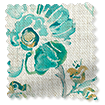 Floral Ink Linen Vintage Teal Curtains slat image