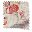 Floral Ink Linen Vintage Rose Curtains slat image