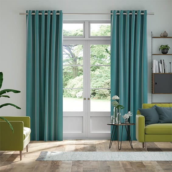Harrow Caribbean Blue Curtains