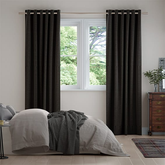 Harrow Charcoal Curtains