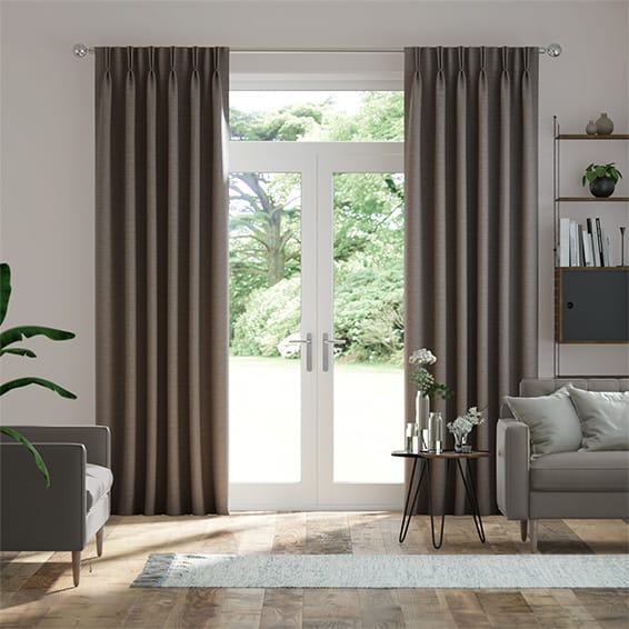 Harrow Grey Taupe Curtains