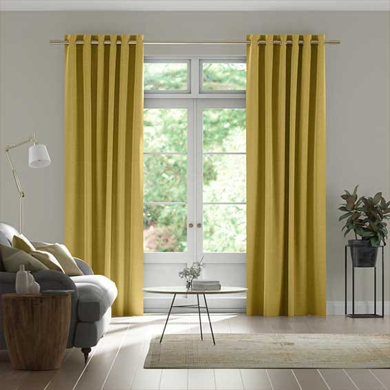 Harrow Mimosa Gold Curtains